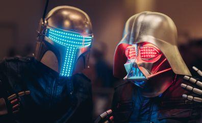 Boba Fett, Darth Vader, cosplay