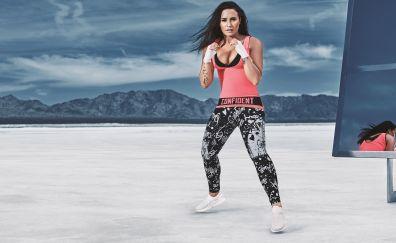 Demi Lovato, boxing, fitness, 2017, 5k