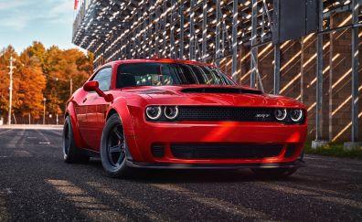 Dodge Challenger SRT Demon front view, muscle car