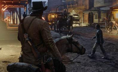 Video game, Red Dead Redemption 2, town, game