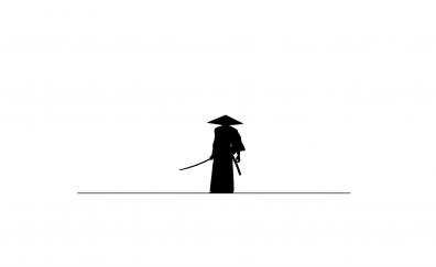 Samurai katana minimal artwork