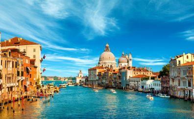 Venice city, river, apartments