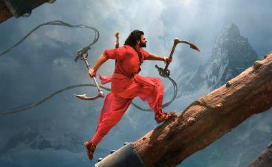 Baahubali 2: The Conclusion, Bollywood movie, prabhas, run, 4k