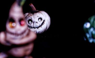 Pumpkin, miniature, Halloween, blur