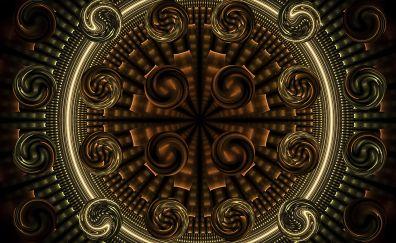 Fractal circle globes geometric