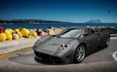 Pagani Huayra, sports cars, gray car