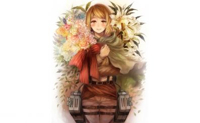 Historia Reiss, Attack on Titan, blonde, anime girl, cute