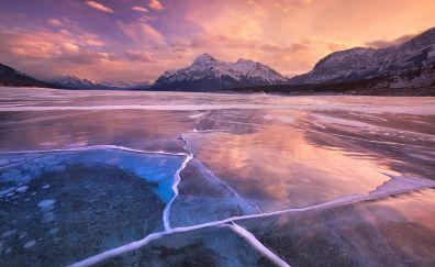 Beautiful Abraham lake