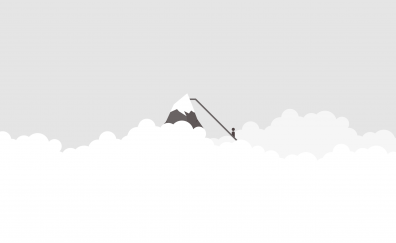 Everest, Mountains, minimal, clouds