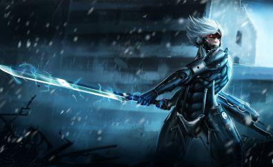 Metal Gear Rising: Revengeance video game, slash, sword, warrior