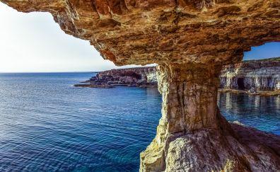 Cape Greco, nature, sea