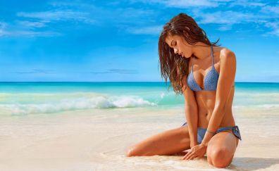 Hot Sara Sampaio, celebrity, beach, bikini