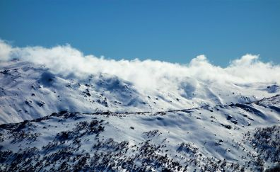 Perisher valley, mountains, nature, landscape, clouds