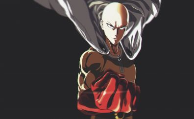 Saitama bald man from One Punch Man anime