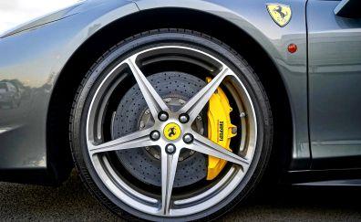 Ferrari,  alloy wheel, car