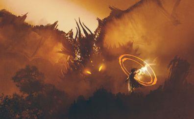 Dragon wizard artwork