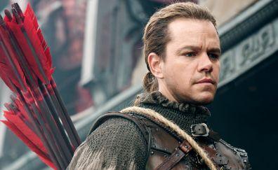 Matt Damon in movie The Great Wall