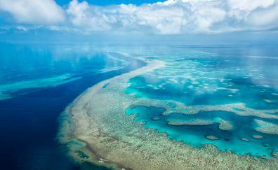 Island, Blue sea, nature