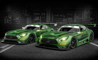 Mercedes AMG GT3 car 2017 wallpaper