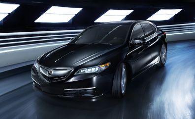 2017 Acura TLX, luxury, sedan car, front view, black