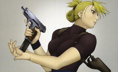Full metal alchemist, anime girl, Riza Hawkeye