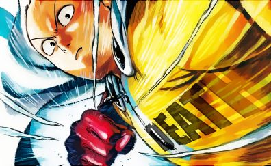 Angry Saitama, Bald anime boy