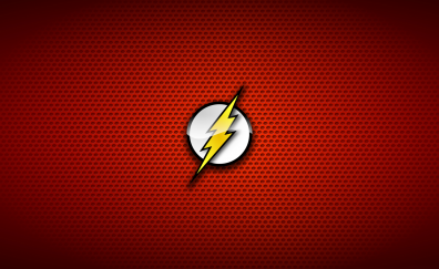 The flash logo, dc comics