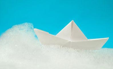 Paper boat, foam