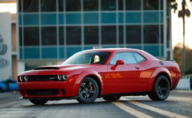 Dodge Challenger SRT Demon, side view, muscle car