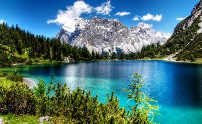 Seebensee lake, mountains, nature