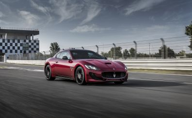 Maserati GranTurismo car, motion blur