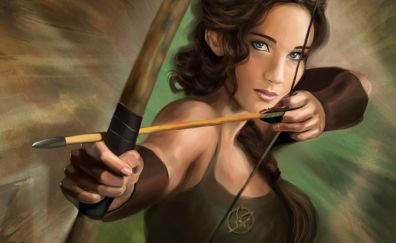 The Hunger Games, movie, art, archer