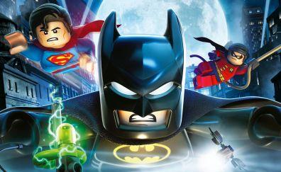 The lego batman, superman and robin