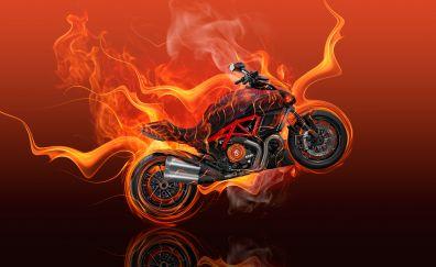 Moto Ducati diavel flame