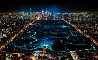 New york city in night