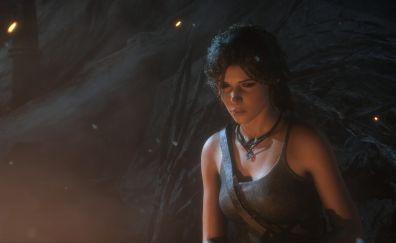 Rise of the Tomb Raider, video game, night, lara croft
