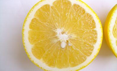 Lemon fruits, slice, close up
