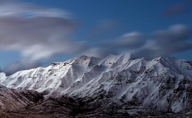 Snowy mount Timpanogos