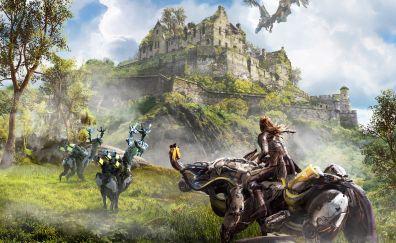Horizon zero dawn video game, edinburgh, 4k