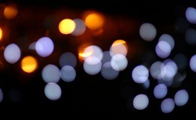 Bokeh, circles, blurred, abstract