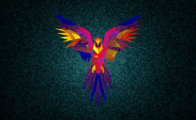 Colorful parrot artwork