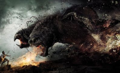 Wrath of the Titans, movie, creature, fight