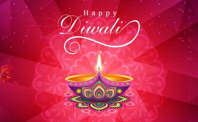 Diwali festival of lights abstract artwork