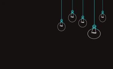 Hanging Tungsten Bulbs, minimal