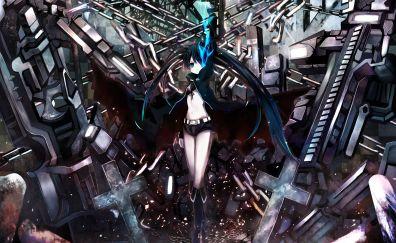 Black Rock Shooter, anime, anime girl