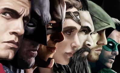 Justice league superheroes artwork