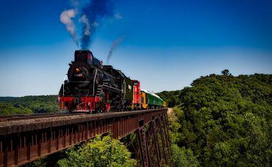 Railway on bridge