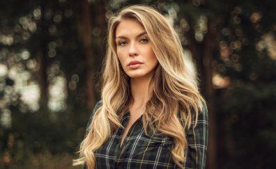 Paulina, girl, model, bokeh