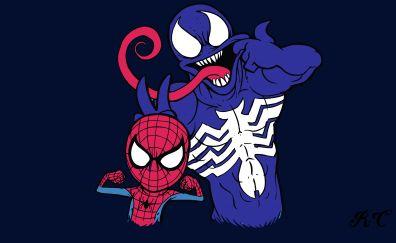 Minimal spider man cartoon