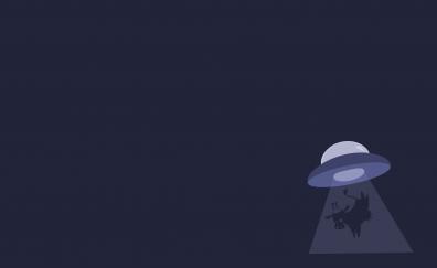 Minimalist, space ship, spacecraft, UFA, cow